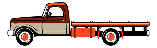 Pickup truck. Classic truck. Isolated vector illustration Royalty Free Stock Images