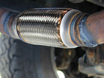 Pickup truck exhaust stock images