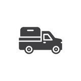 Pickup truck icon vector, filled flat sign, solid pictogram isolated on white. Symbol, logo illustration. Royalty Free Stock Image