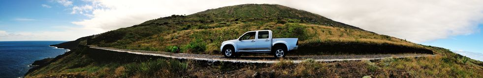 Pickup Truck on an island Royalty Free Stock Image