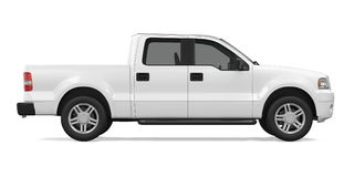 Pickup Truck Isolated. On white background. 3D render Royalty Free Stock Images