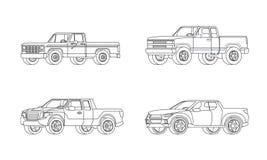Pickup Truck Modern Design Models Set Stock Photo