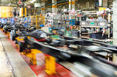 Pickup truck production line Royalty Free Stock Image