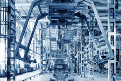 Pickup truck production workshop Royalty Free Stock Images