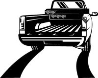 Pickup truck rear view Stock Photo