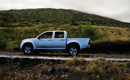 Pickup Truck on a road stock photo