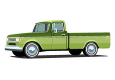 Pickup truck with shadow. Pickup truck. Classic truck. Isolated vector illustration Royalty Free Stock Photos
