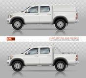 Pickup truck vector mock-up Royalty Free Stock Image
