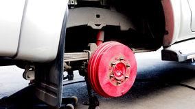 Pickup truck wheel hub Stock Photography