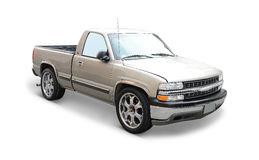 Pickup Truck. A pickup truck on white stock photo