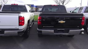 Pickup Trucks, Dealership, For Sale, New and Used stock footage