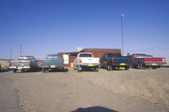Pickup trucks on Navajo Indian Reservation in Shiprock, NM Royalty Free Stock Photography