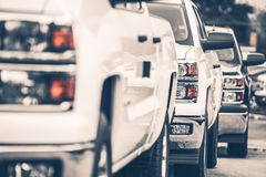 Pickup Trucks For Sale Royalty Free Stock Photo
