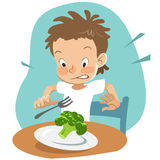 Picky eater Stock Image