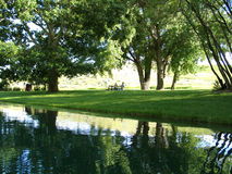 picnic ημέρας ηλιόλουστο στοκ εικόνες