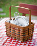 picnic καλαθιών εργαλείο Στοκ Φωτογραφία