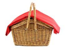 picnic καλαθιών λυγαριά Στοκ φωτογραφία με δικαίωμα ελεύθερης χρήσης