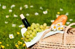 picnic καλαθιών Στοκ εικόνα με δικαίωμα ελεύθερης χρήσης