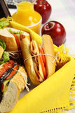picnic σαλάτα ρόλων Στοκ Φωτογραφία