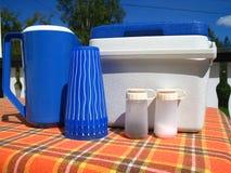 picnic σύνολο στοκ εικόνα