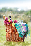 Picnic. Romantic picnic in mediterranean setting Stock Photos