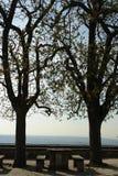 picnic πίνακας σκιών στοκ φωτογραφία