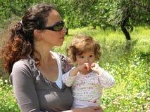 picnic 3 οικογενειών στοκ φωτογραφία