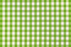 το ύφασμα απαρίθμησε πράσινο picnic Στοκ φωτογραφία με δικαίωμα ελεύθερης χρήσης