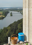 Picnic. Romantic picnic with view of river Danube in Germany Royalty Free Stock Photography