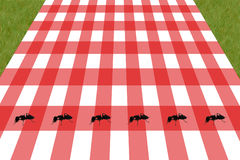 Picnic. An illustration of a picnic table with ants Royalty Free Stock Image