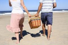 Picnic alla spiaggia Fotografia Stock Libera da Diritti