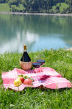Picnic in Alpine meadow Royalty Free Stock Photography