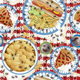 Picnic Ants Pattern Stock Photo