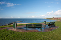 Picnic area along the Dutch coast Royalty Free Stock Photography