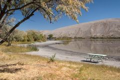 Picnic area at the Bruneau Dunes Stock Image