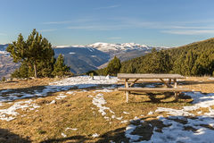 Picnic area in the catalan Pyrenees Royalty Free Stock Photo