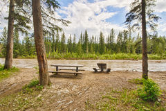 Picnic Area Damage in Calgary Flood Stock Images