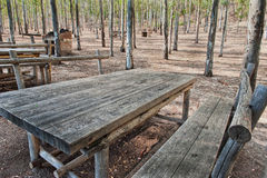 Picnic area equipped royalty free stock photography
