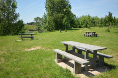 Picnic area in France Royalty Free Stock Images