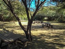 Picnic area in the Karoo National Park, South Africa. royalty free stock photos