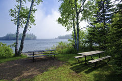 Picnic Area, Lake Superior Royalty Free Stock Photo