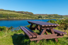 Picnic area at Loch Harport Royalty Free Stock Photography