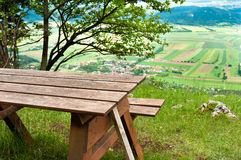 Picnic area in mountains Royalty Free Stock Images