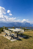 Picnic Area in The Mountains Stock Images