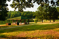 Picnic area in park Stock Images