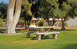Picnic area in the park Stock Image