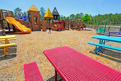 Picnic Area at Playground Stock Photo