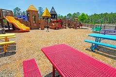 Picnic Area at Playground Stock Photo