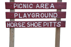 Picnic area and playground sign Royalty Free Stock Photography