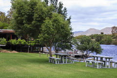 Picnic area by the river Royalty Free Stock Photography